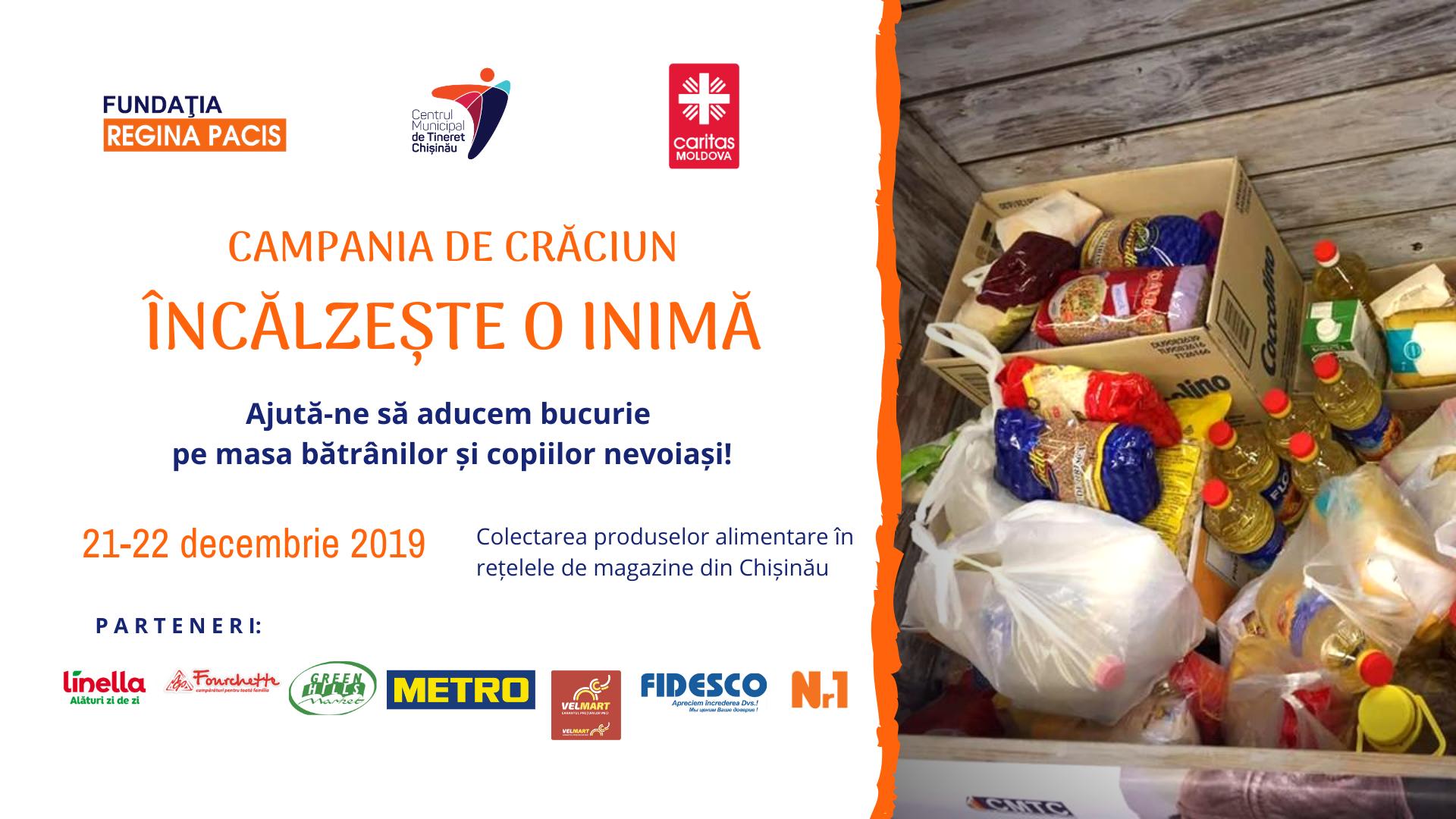 CAMPANIE CARITABILĂ: NE UNIM EFORTURILE PENTRU A ÎNCĂLZI MAI MULTE INIMI!, 2019